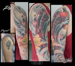Bukaa tattoo Lublin, cover up, coi fish