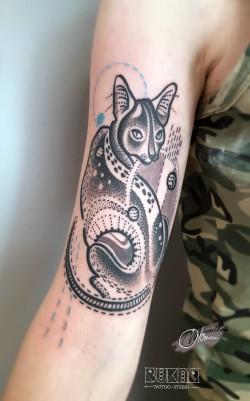 kot tatuaż