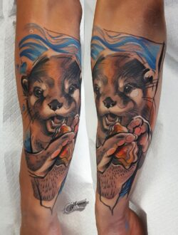 lublin tattoo, tattoo, tatuaz, tatuaż lublin, abstract tattoo, abstrakcja,face tattoo, realistic tattoo, wydra tatuaż, tat, tatoo, tatto, poland tattoo, abstraction,otter, otter tattoo, watercolor tattoo, watercolor, wydra, wydra tatuaz