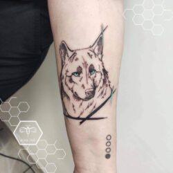 lublin tattoo, tatuaz lublin, tattoo lublin, aloe.ink, watercolor, color tattoo, tatuaż profesjonalny, tatuaż Lublin, tat, tatuaz, tatoo, wolf, tatuaż wilk, wilk